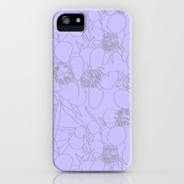 Australian Waxflower Line Floral in Lilac iPhone Case