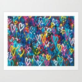 Graffiti Hearts Love (Color) Art Print
