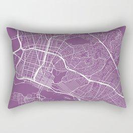 Oakland Map, USA - Purple Rectangular Pillow