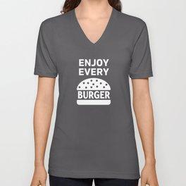 Enjoy Every Burger Lover Eater Fastfood Unisex V-Neck