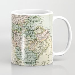 South Scotland Vintage Map Coffee Mug