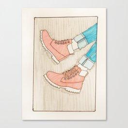 Pastel Boots Canvas Print