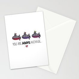 You Are Above Average Stationery Cards