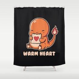 Warm Heart Shower Curtain