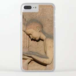 Angel playing organ at the Church of St. Odile Clear iPhone Case