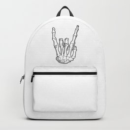 Hand Finger Bone Sign Rock Metal Music Halloween Gift Idea Backpack