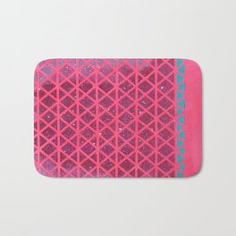 Pink with Pink Glitter Fade + Turquoise  Bath Mat