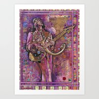 prince Art Prints featuring Prince by Ray Stephenson