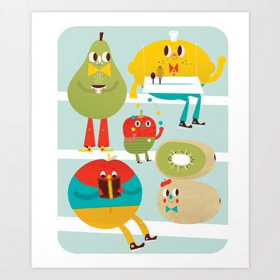 cute fruit Art Print