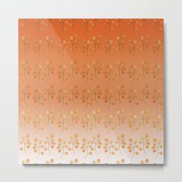 """Cactus flowers in soft orange"" Metal Print"