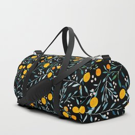 Oranges Black Duffle Bag