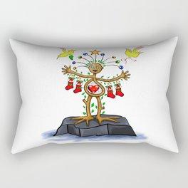 Nature Man Christmas Rectangular Pillow