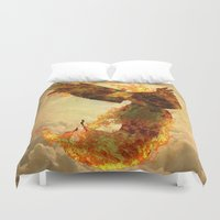 phoenix Duvet Covers featuring Phoenix by Barruf