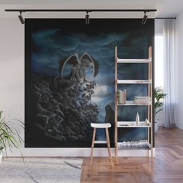 Wolfmoon , Wolf with Golem Wall Mural