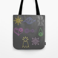 digimon Tote Bags featuring Digimon by tukylampkin