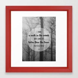 I took a walk in the woods Framed Art Print