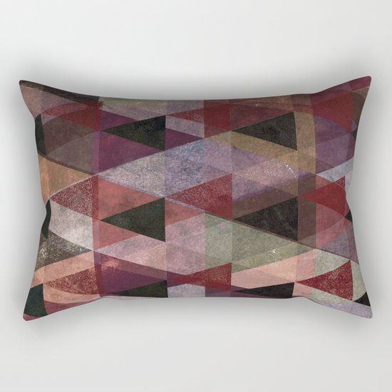 Abstract #482 Triangle Collage Rectangular Pillow