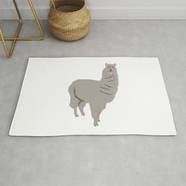 Llama Licking a Pink Lollipop Rug