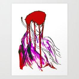 """""""Red Cap"""" Art Print"""