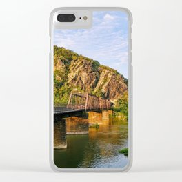 Majestic mountains (Harper's Ferry, WV) Clear iPhone Case
