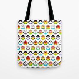 Lovebird colour mutations Tote Bag