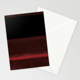 1958 Four Darks on Red by Mark Rothko Stationery Cards