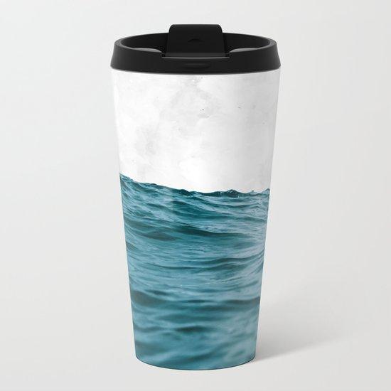 Ocean + Marble #society6 #decor #buyart Metal Travel Mug