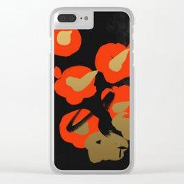 Flower(Tsubaki) Clear iPhone Case