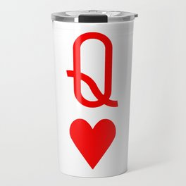 Valentine's Day Queen of hearts symbol Travel Mug