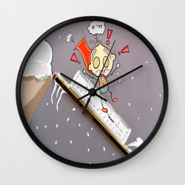 """"""" The Art Of Sledging """" Wall Clock"""