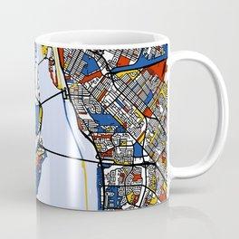 montreal map mondrian Coffee Mug