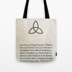 Triple Spiral Tote Bag
