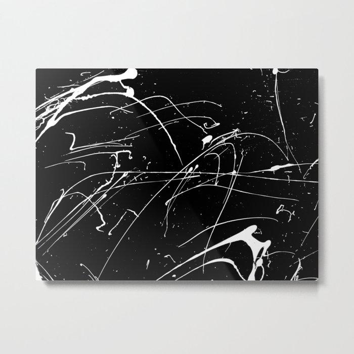 MONOCHROME SPLATTER #2 Metal Print