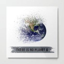 There is no planet B Metal Print