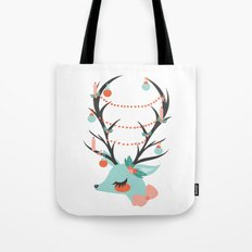 Retro Reindeer Tote Bag
