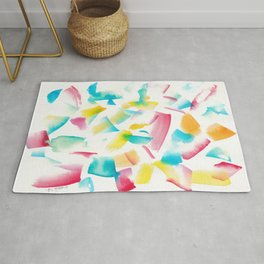 180719 Koh-I-Noor Watercolour Abstract 18 | Watercolor Brush Strokes Rug