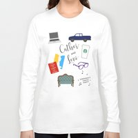 levi Long Sleeve T-shirts featuring Cather and Levi by Book Spectacle
