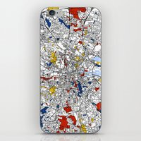 mondrian iPhone & iPod Skins featuring Dublin mondrian by Mondrian Maps