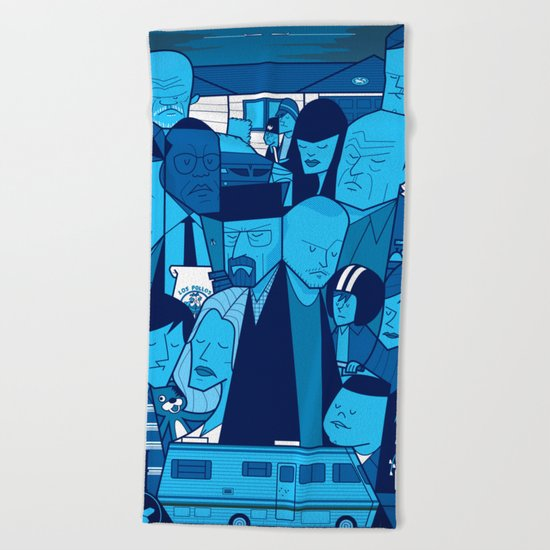 Breaking Bad (blue version) Beach Towel