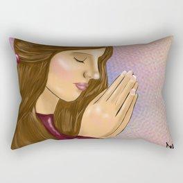 Prayer Changes Things Rectangular Pillow