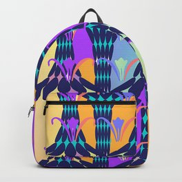 ABSTRACT COLORED FLORALS Backpack
