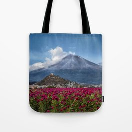 Popocatepetl Volcano Puebla Mexico Tote Bag