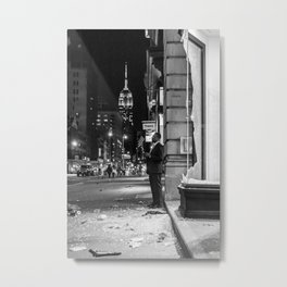 New York City Protes Metal Print