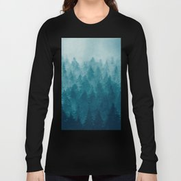 Misty Pine Forest Long Sleeve T-shirt