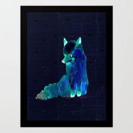 babyfox Art Print