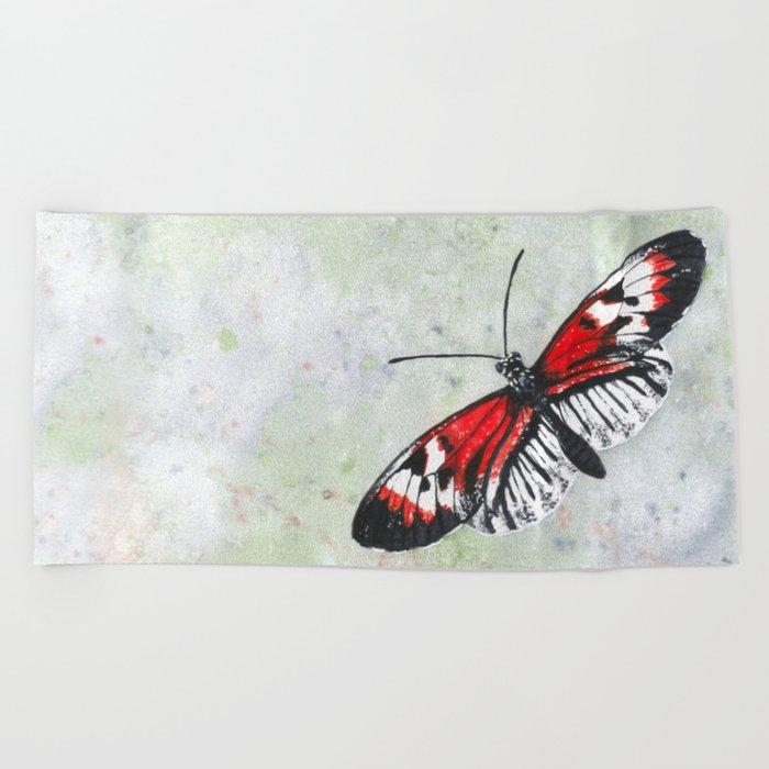 Piano key Butterfly (Heliconius melpomene) Beach Towel
