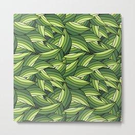 GREENERY LEAVES B  (abstract flowers nature) Metal Print