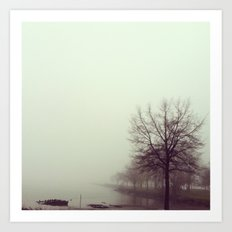 foggy morning Art Print