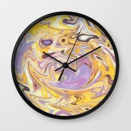Yellow and Purple Car Wash Wall Clock