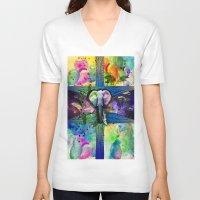 olivia joy V-neck T-shirts featuring JOY by sametsevincer